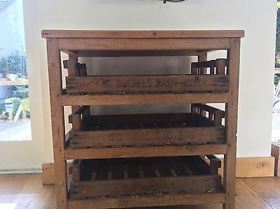 Reclaimed Vintage Antique Old Pine Chest Open Crate Drawers Unusual Collect LE8
