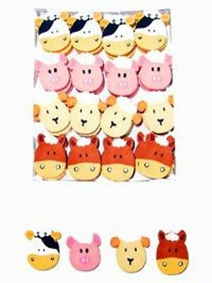 12  Farm Face Erasers - Party Bags - Fund Raising
