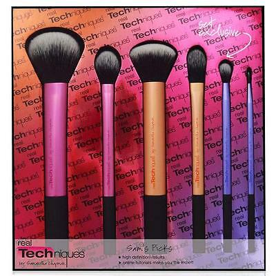 New Real Techniques Sam's Picks Exclusive Set Six Brushes Make Up Kit