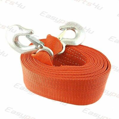 10 TONNE 10T 6m Tow Towing Pull Rope Strap Heavy Duty Road Recovery Car Van SUV