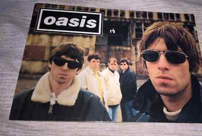 Oasis Band Photo Postcard Indie