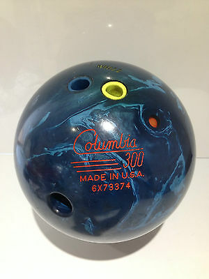 Vintage Columbia 300 Blue Pulse Pearl Ten Pin Bowling Ball Made In Usa Lamp Base