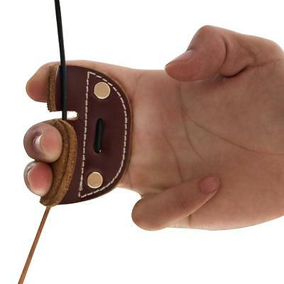 Leather Archery Finger Guard Protector Gloves Tab Recurve Bow Hunting Shooting