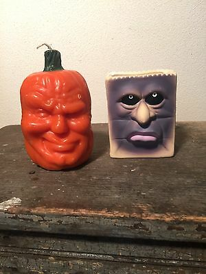 Vintage Todd Masters James or Johnny OH LANTERN Family Pumpkin Candle Halloween