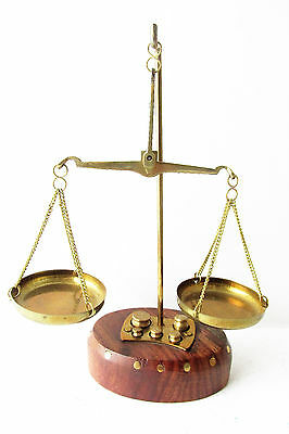 Vintage Brass Apothecary Scale Balance With Weights