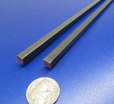 """Square W1 Tool Steel Bar  1/4"""" Thick x 1/4"""" Wide x 36"""" Length, 2 Pieces"""
