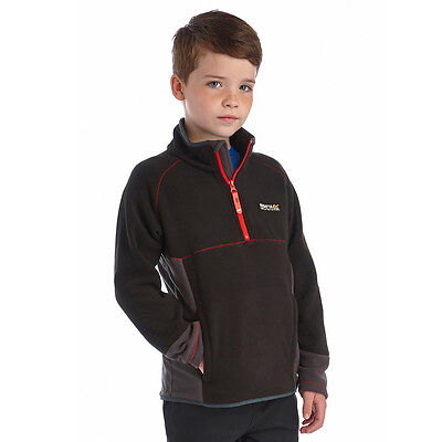 Regatta Whinfell Fleece Half Zip Jacket Top Boys Girls Kids Childs Childrens
