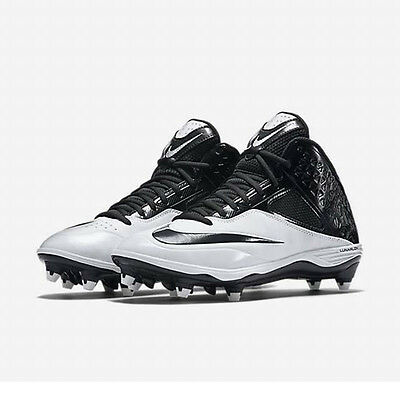 2151b975ee0e Nike Lunar Code Pro 3 4 D Black Anthracite White Football Cleats 579668 001