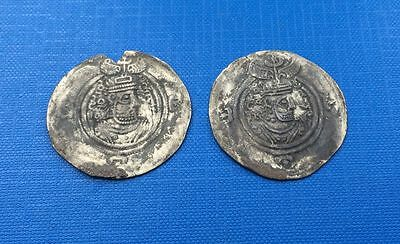 Sassanian Lot of x 2 Coins AR ( Silver )