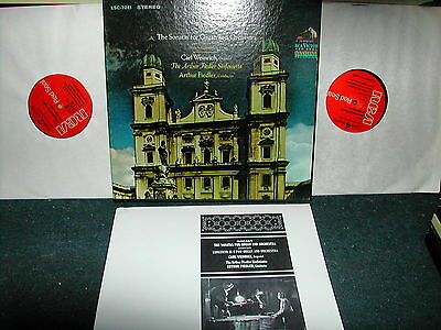 LSC 7041 Mozart sonatas for organ and orch Fiedler 2LP boxset