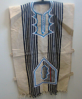 FESTIVAL CLOTHING  Authentic Handwoven FUGU SMOCK BATAKARI West Africa Blue 08