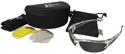 Edge Khor Polarized Safety Glasses Kit Digital Camo Gray, Yellow, Clear Lens