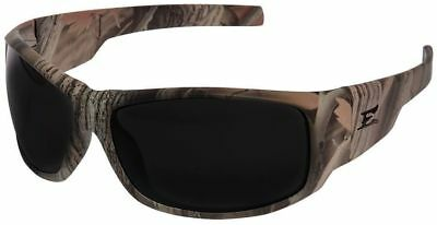 Edge Caraz Ballistic Safety Glasses with Forest Camo Frame and Smoke Lens