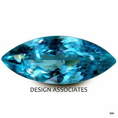 Neon Apatite Natural 7X3.5 Mm Marquise Cut  Blue Outstanding Neon Color