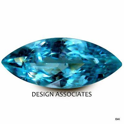 Neon Apatite Natural 8X4 Mm Marquise Cut  Blue Outstanding Neon Color