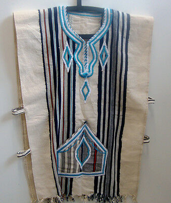 FESTIVAL CLOTHING  Authentic Handwoven FUGU SMOCK BATAKARI West Africa Blue 10