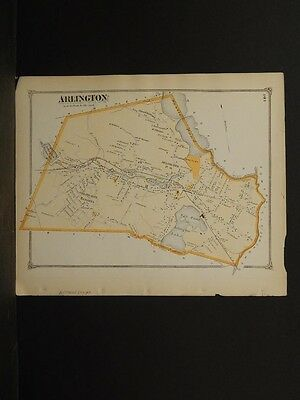 Massachusetts Middlesex County Map 1875 Town of Wayland !Z3#92