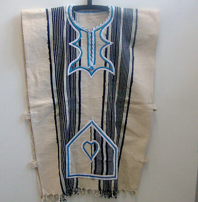 FESTIVAL CLOTHING  Authentic Handwoven FUGU SMOCK BATAKARI West Africa Blue 12