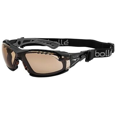 Bolle Rush Plus Safety Glasses | Black/Gray Temples | Twilight AF Lens