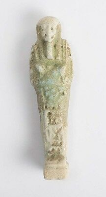 Ancient Egyptian Blue Faience Ushabti c.600 BC.