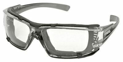 Elvex Go-Specs IV Safety Glasses Gray Temples, Foam Clear Anti-Fog Lens