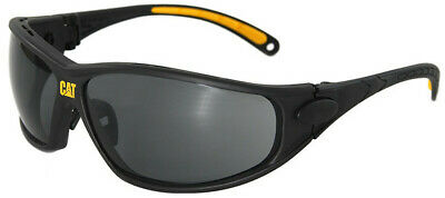 CAT Tread Safety Glasses with Black Frame and Smoke Lens