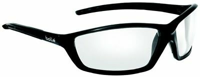 Bolle Solis Safety Glasses with Black Frame and Clear Anti-Fog Lens