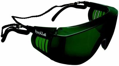 Bolle Override Safety Glasses with Black Temples and IR Shade 5 Anti-Scratch Len