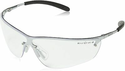Bolle Silium Safety Glasses with Silver Frame and Clear Anti-Fog Lens