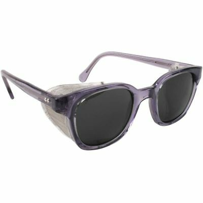 Bouton Traditional Safety Glasses Smoke Frame Mesh Sideshields Gray Lens