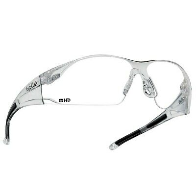 Bolle Rush Safety Glasses with Clear HD Hydrophobic Lens