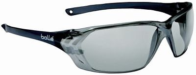 Bolle Prism Safety Glasses with Shiny Black Temples and Silver Mirror Anti-Scrat
