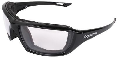 Radians Extremis Safety Glasses Black Gloss Frame Clear Anti-Fog Lens