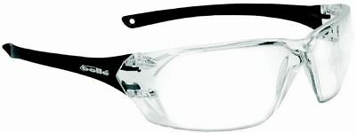 Bolle Prism Safety Glasses with Shiny Black Temples and Clear Anti-Scratch and A