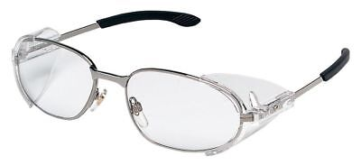 Crews RT2 Safety Glasses with Chrome Frame and Clear Lens