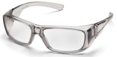 Pyramex Emerge Safety Glasses with Gray Frame and Clear Lens