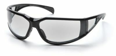 Pyramex Exeter Safety Glasses with Black Frame and Clear Anti-Fog Lens
