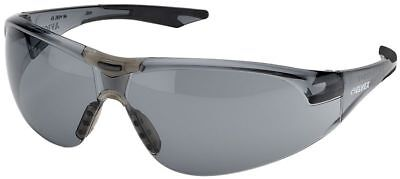 Elvex Avion Safety Glasses with Black Temples and Gray Anti-Fog Lens