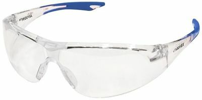 Elvex Avion Safety Glasses with Blue Temple Tip and Clear Anti-Fog Lens