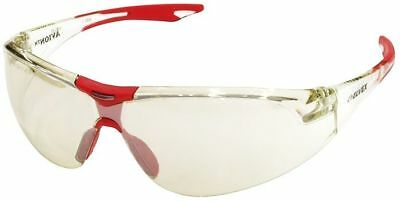 Elvex Avion Safety Glasses with Red Temple Tip and Indoor/Outdoor Lens