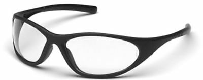 Pyramex Zone 2 Safety Glasses with Black Frame and Clear Lens