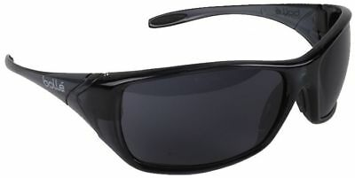 Bolle Voodoo Safety Sunglasses with Shiny Black Frame and Smoke Lens ANSI Z87