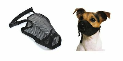 Ancol Soft Dog Muzzle Large Sizes Soft Comfortable Breathable Mesh Muzzle