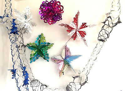 Festive Christmas Xmas Foil Wall,ceiling Home Party Hanging Bunting Decorations
