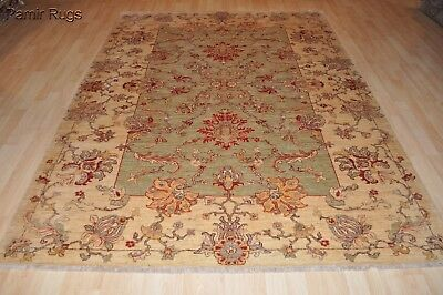 7 x 10 ft. TOP QUALITY  Vegetable Chobi Rug Siege green soft light muted colors