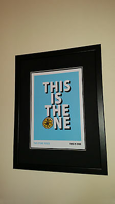 The Stone Roses This Is The One Framed  Print, Manchester Madchester Vinyl