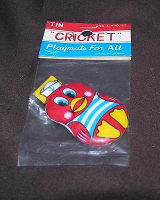 Vtg 1960S Japan Tin Cricket Toy Party Favor, Noisemaker Sailor Easter Chick Iop