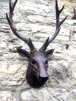 Brown stag,deer head wall mounted figure decoration 48cm brand new