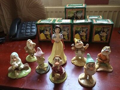 Royal Doulton Snow White And The Seven Dwarves 50th Anniversary Set