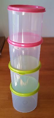 Tupperware Set/4 Mini Stacking Canisters 2 Cup -Free shipping